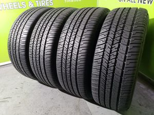 Four 225/60/18 GOODYEAR EAGLE RS-A *99% TREAD* FREE MOUNT AND BALANCE!! for Sale in Tampa, FL