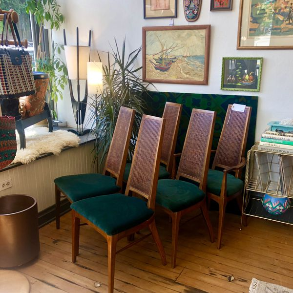 Marvelous Set Of Four Walnut Dining Chairs Lane Mid Century Modern For Sale In Portland Or Offerup Download Free Architecture Designs Aeocymadebymaigaardcom