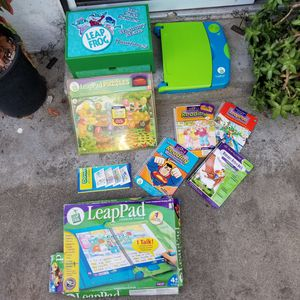 Leap Frog Reader Card Games Puzzle Books Ect for Sale in Lawndale, CA
