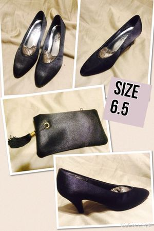 Satin Black heels and matching purse for Sale in Scottsdale, AZ
