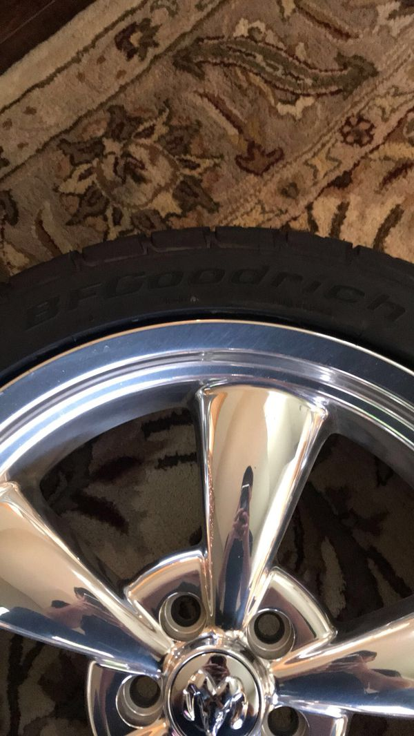 "Selling my brand new BFG\'s tires and 20"" dodge wheels 245/45/20 ..."