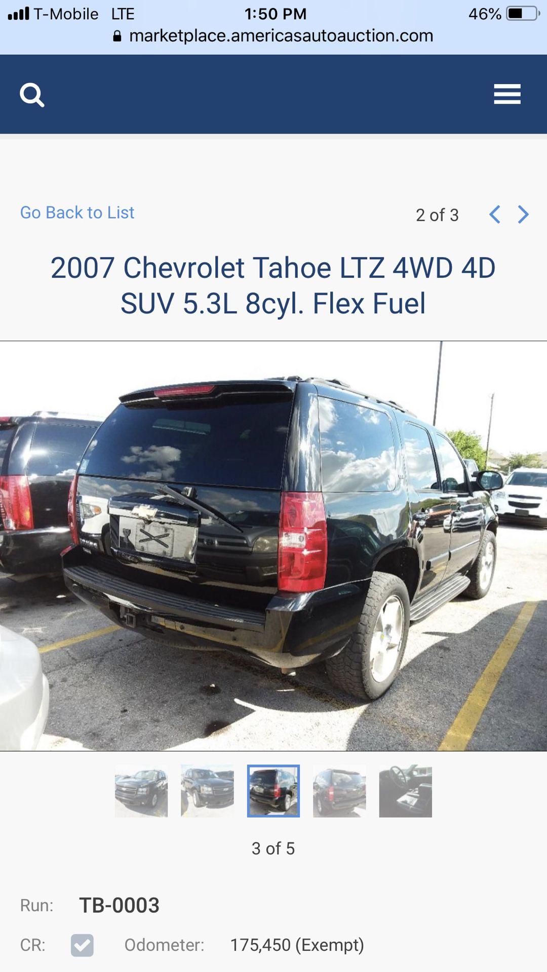 2007 Chevorlet Tahoe 4x4