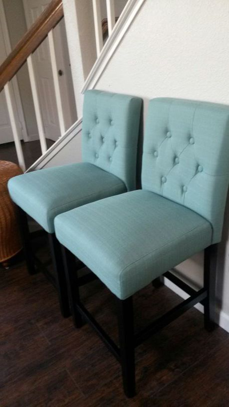 New Tufted Teal Counter Stool 60 Off For Sale In Tracy Ca Offerup