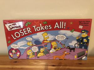 Board Game The Simpsons Loser Takes All for Sale in Washington, MD