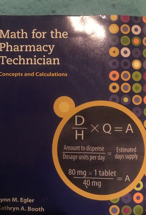 Math Textbook for pharmaceutical studies for Sale in St. Louis, MO