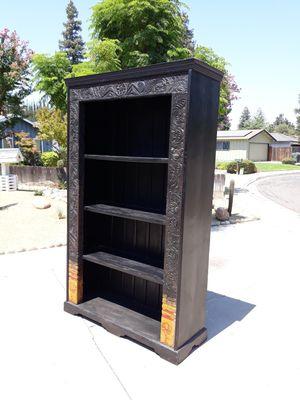 Very Large Teak Wood Moroccan Bookshelf For Sale In Visalia CA