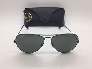 Photo Ray Ban RB-3025 Aviator Large Metal Sunglasses Black Frame with Case - Mint Condition