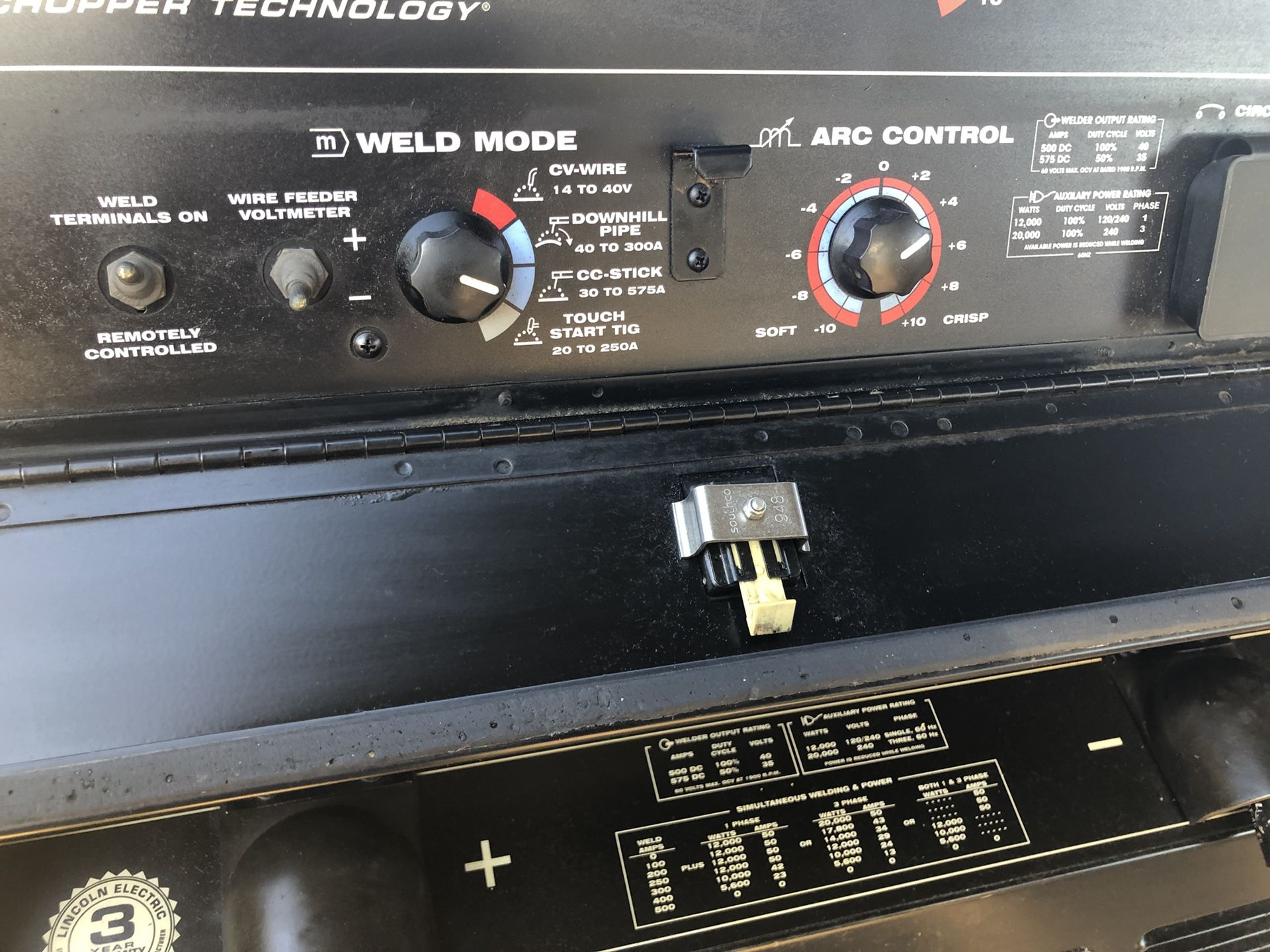 2013 Lincoln vantage 500 diesel 575A welder only 1494 hours