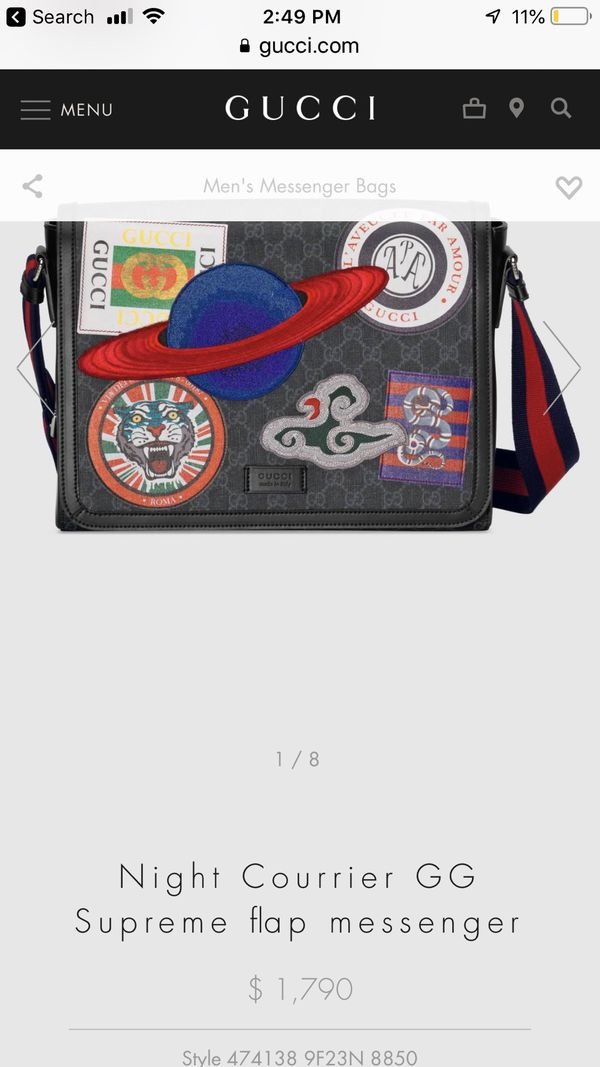 bc63111fe071e8 Night courrier GG Supreme flap messenger Gucci bag for Sale in Plano, TX -  OfferUp