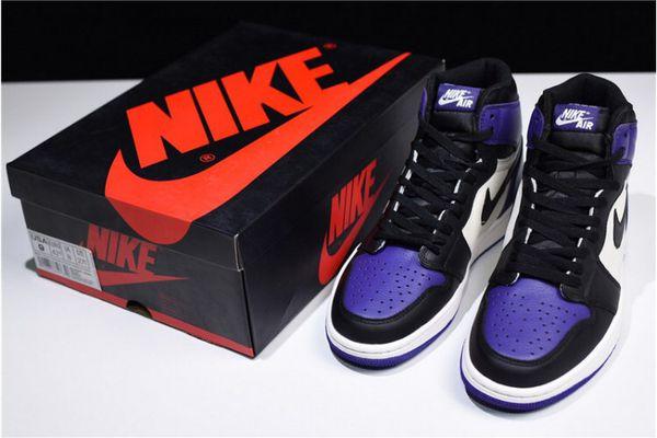 separation shoes e2cbb 26114 Air Jordan Retro 1 Court Purple UA Version Men Size 8 for Sale in  Sacramento, CA - OfferUp