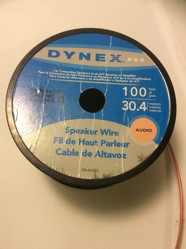 Used Dynex copper speaker wire 18 gauge (Audio Equipment) in Orland ...