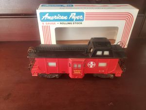 Photo Vintage American Flyer 1/64 scale model railroad freight train caboose