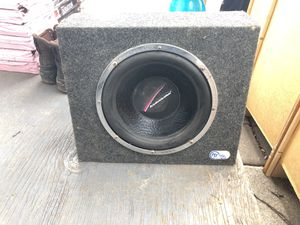 "Nice subwoofer 15 x 18 box and subwoofer 12"" for Sale in Silver Spring, MD"