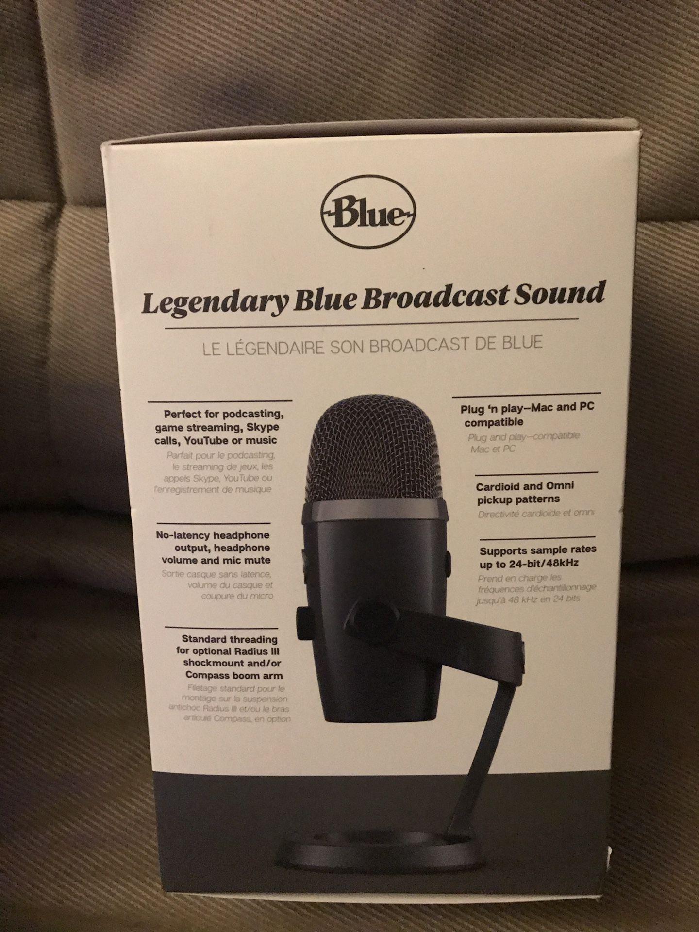 Brand New Blue Yeti Nano Premium USB Microphone