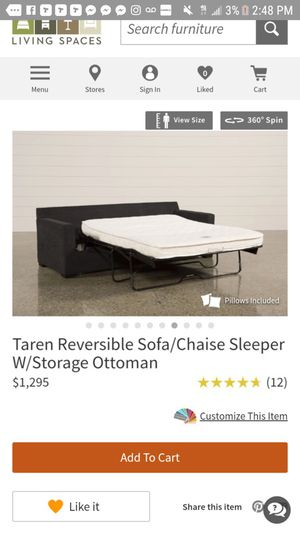 Fine Taren Reversible Sofa Chaise Sleeper Storage Ottoman For Gmtry Best Dining Table And Chair Ideas Images Gmtryco