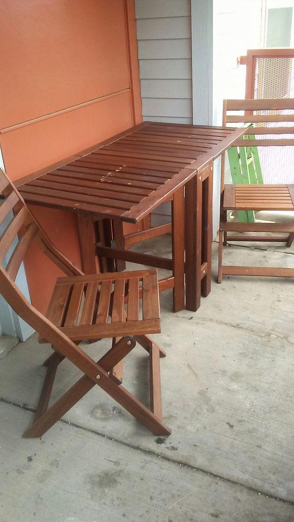 IKEA (Teak wood) Patio table/chairs for Sale in Tyler, TX - OfferUp