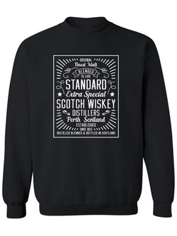 Smartprints Whiskey Vintage Frame  Sweatshirt Men's -Image by Shutterstock Ash Size L Thumbnail