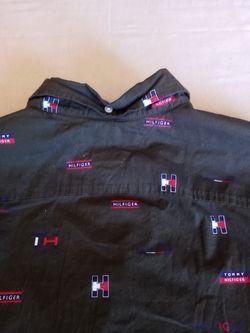 Tommy Hilfiger Monogram Slim Fit Long Sleeve Shirt Nwot Size Medium  Thumbnail