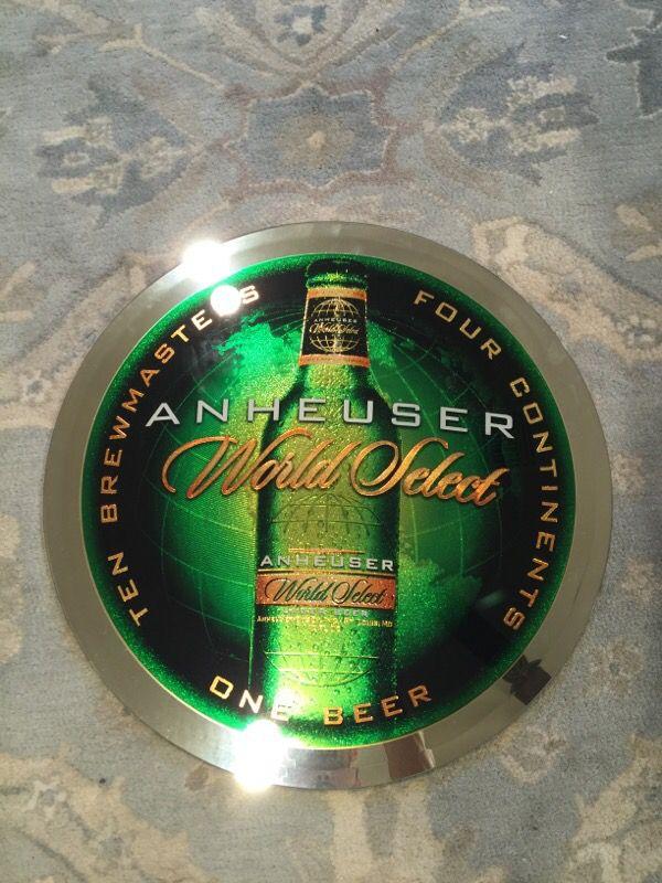 Anheuser World Select Beer Sign