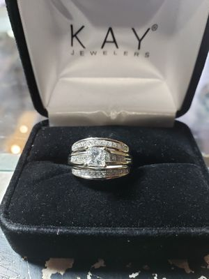 66aef014e988b KAY JEWELERS 14K WHITE GOLD 3 RING WEDDING SET for Sale in Apache Junction,  AZ - OfferUp