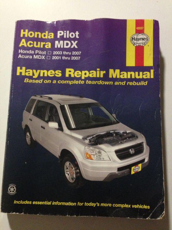 2007 honda pilot owners manual and maintenance manual