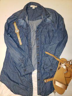 Soft denim blouse Thumbnail