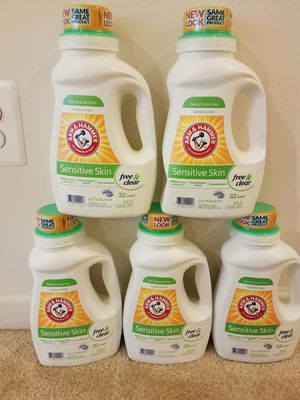 5 Arm and Hammer liquid laundry detergent- $15. Price is not negotiable for Sale in Rockville, MD