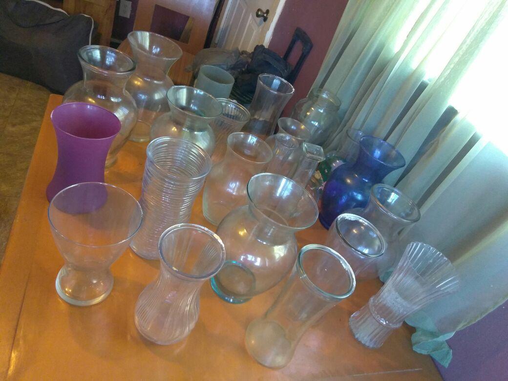 Floreros de Cristal different tamaños y formas