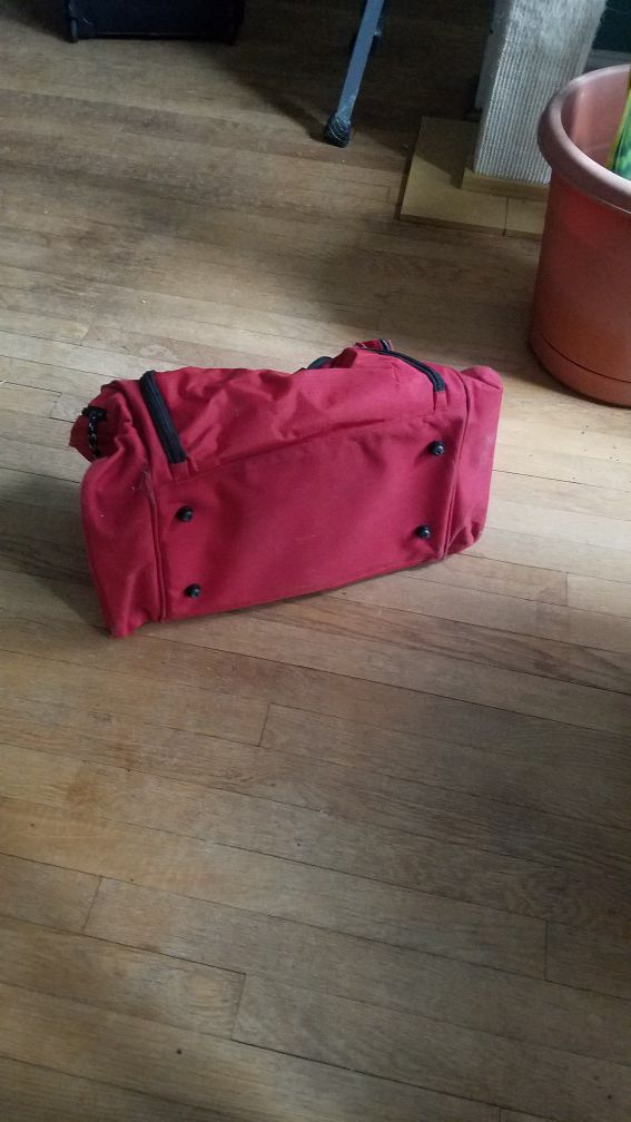 Small Red Duffle Bag