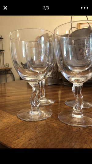 Glass stemware and dessert plates for Sale in Silver Spring, MD