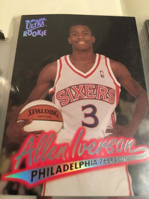 Allen Iverson Rookie Basketball Card!! Fantastic Condition!!! 2 rookie cards included!!! for Sale in Atlanta, GA