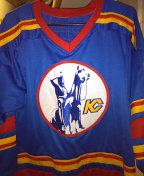 Like new ALL stitched Kansas city scouts hockey jersey size medium for Sale in Philadelphia, PA