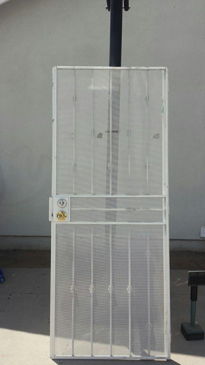 80x32 custom made iron Security Screen Door.