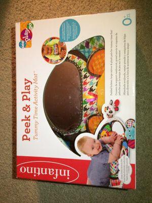 Peek and play tummy time activity mat for Sale in Fairfax, VA