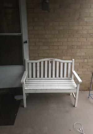 White Bench for Sale in Manassas, VA