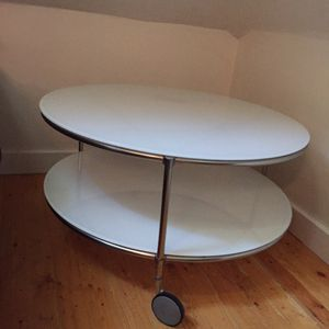 Cabin-style Vintage Round White Glass Table for Sale in Salt Lake City, UT