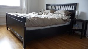 King size Ikea hemnes bed frame complete with upgraded slats - Will Deliver for Sale in Alexandria, VA