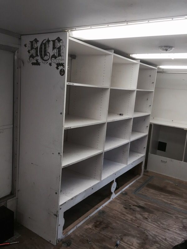 Enclosed Trailer Shelving >> Custom Enclosed Trailer Shelving For Sale In Puyallup Wa Offerup