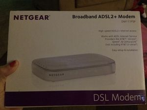 Netgear dsl modem everything in it including the disc u upload for Sale in Bay Minette, AL