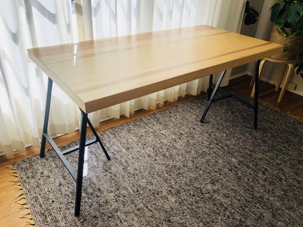 Ikea Lerberg Table Legs And Gerton Wood Top