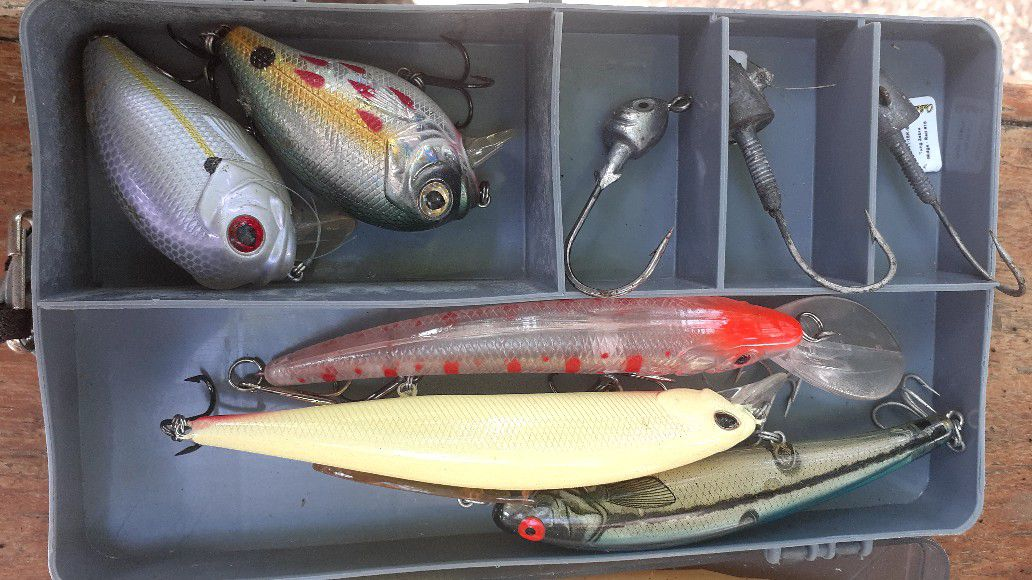 Sturgeon fishing lures.