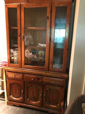 Pure oak China cabinet for Sale in Atlanta, GA