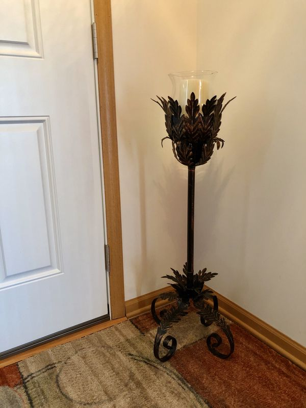 Flameless Candle W Timer Floor Stand For Sale In Vernon