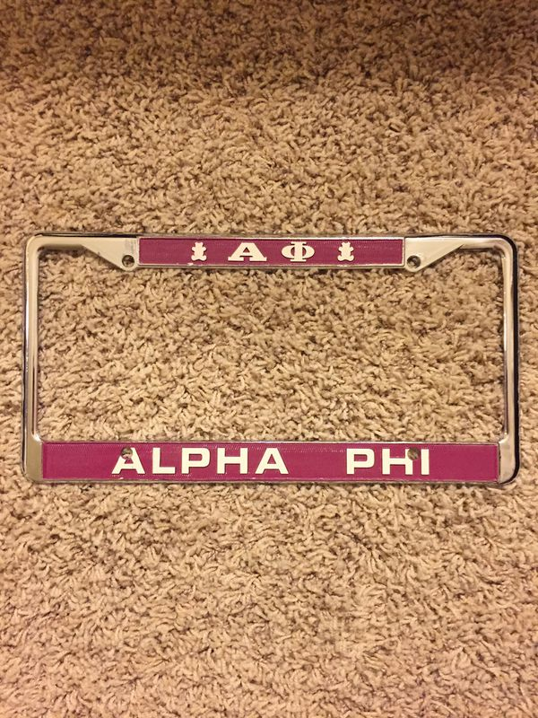 Alpha Phi License plate frame for Sale in Phoenix, AZ - OfferUp