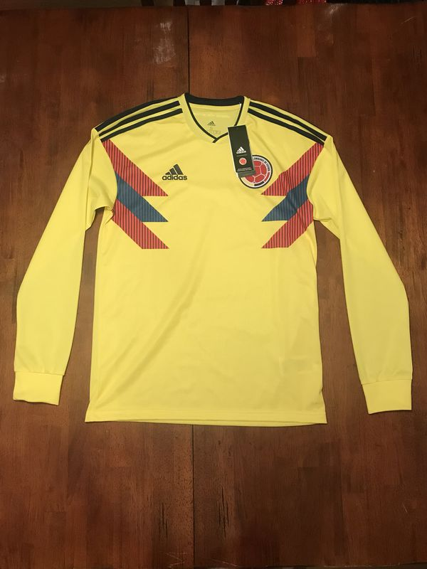 8f23e7dc5 Adidas 2018 World Cup Colombia Men's Home Jersey BR3511 Long Sleeve Sz: S