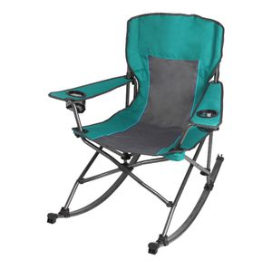 Ozark Trail Quad Fold Rocking Camp Chair with Cup Holders, Green j6-1525 for Sale in St. Louis, MO