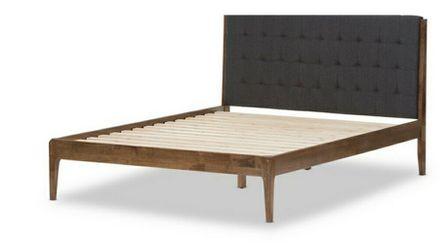 Baxton Studio Clifford  King Platform Bed SW8065-Grey/Walnut-M7-king Thumbnail