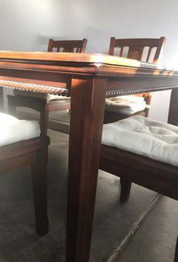6 chairs dining set REAL WOOD Thumbnail