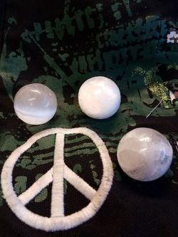 Update: Selenite spheres 2 left Thumbnail