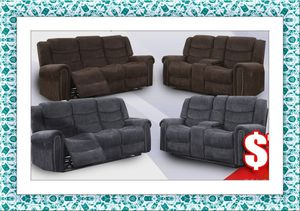 Grey or chocolate recliner set with free delivery for Sale in Herndon, VA